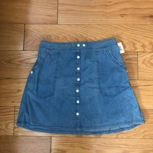 Nordstrom rack denim skirt with buttons